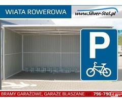 Wiata rowerowa garaż blaszany parking na rowery zadaszenie