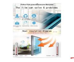 Folkos Platine 285XC Folia przeciwsłoneczna zewnetrzna - Redukcja Rażenia Słon, 85% lustrzana Folia