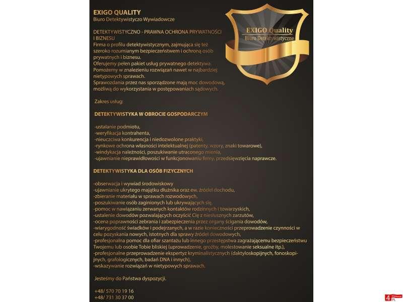 Detektyw/Biuro Detektywistyczne