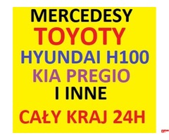 Skup TOYOTA Corolla,Hiace,MERCEDES 190,124,Kaczor, Sprinter,Hyundai H100,KIA Pregio,NISSAN Urvan