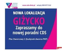 PORADNIA DIETETYCZNA CDS GIŻYCKO DIETETYK DIAGNOSTYKA NIETOLERANCJI GIŻYCKO